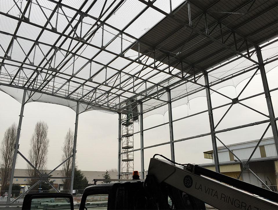 Posa e manutenzione di reti anticaduta a Bergamo