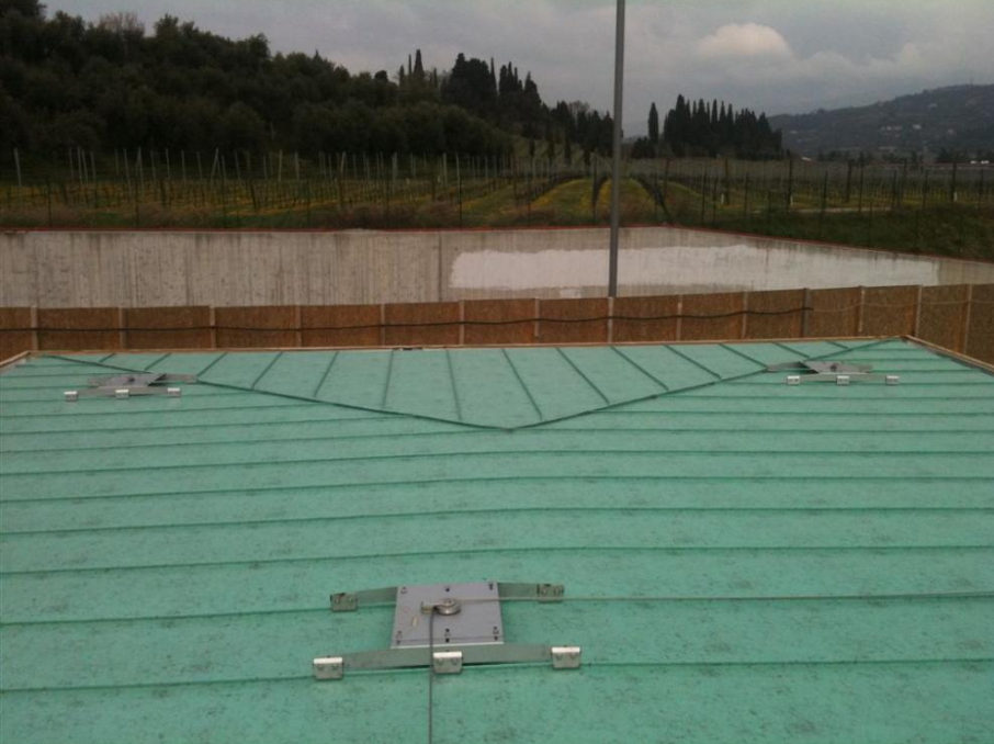 Installazione linee vita per aggraffato a Verona